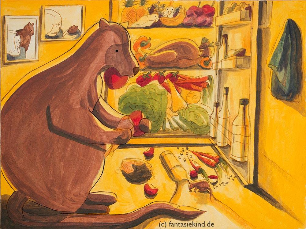 Kinderbuchillustration Baumkänguru Joe