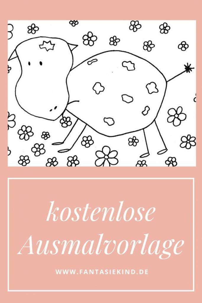 Kostenlose Ausmalvorlage Glückliche Kühe, Ann Rose