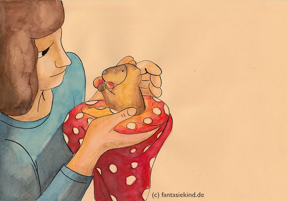 Kinderbuchillustration Baumkänguru fantasiekind