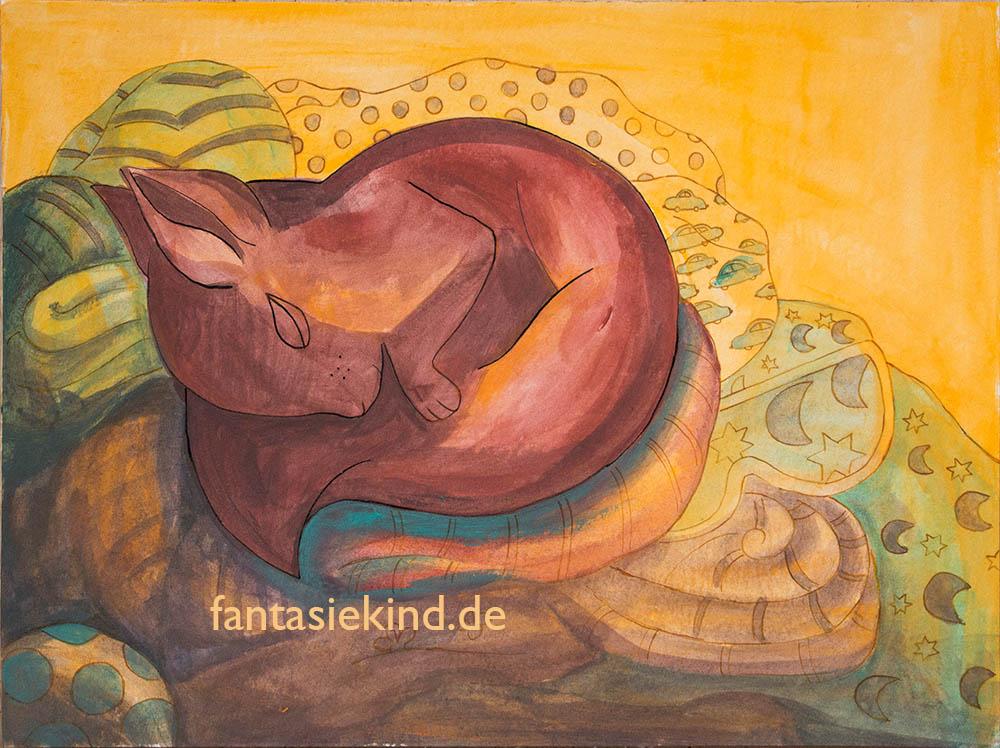 Kinderbuchillustration Eichhörnchen fantasiekind