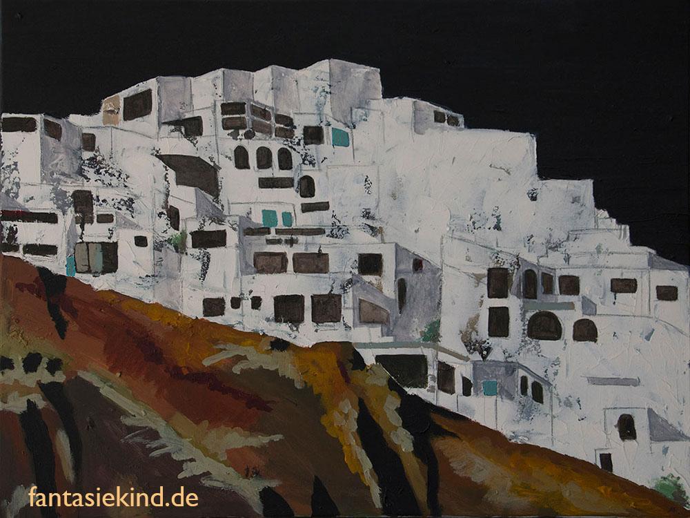 Malerei Stadt fantasiekind