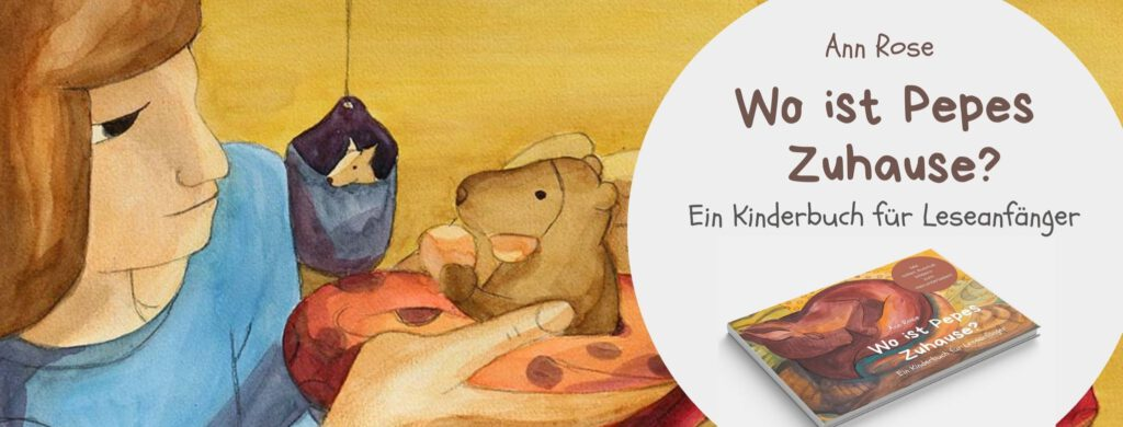 """Banner """"Wo ist Pepes Zuhause"""" Kinderbuch"""